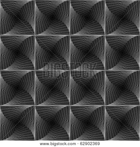 Design Monochrome Seamless Checked Tetragon Background
