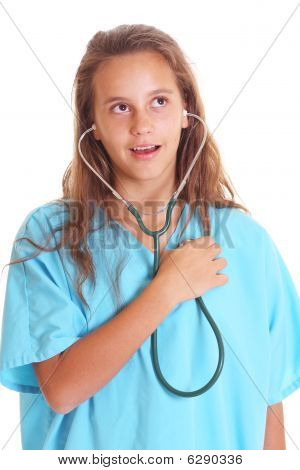 Listening With Stethoscope