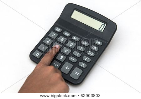 Hand and calculator concept of finance and accounting