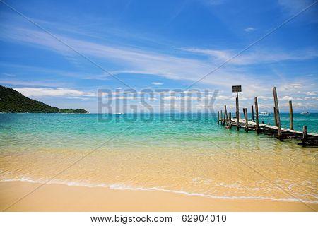 Beautiful sand of beach sea