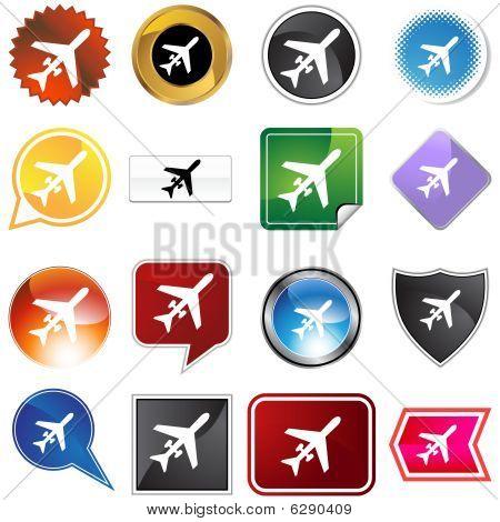 private plane icon set