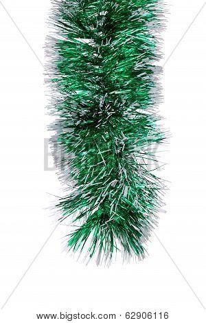 Christmas green tinsel.