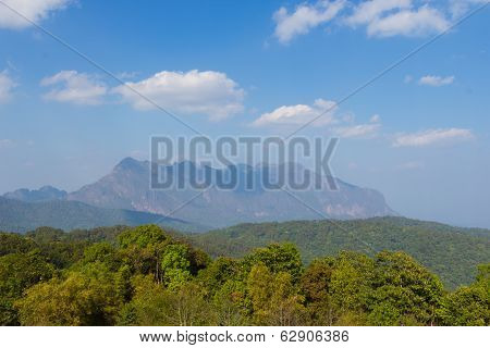 Landscape High View Mountain Background At Doi Mae Taman Chiang Mai At Thailand