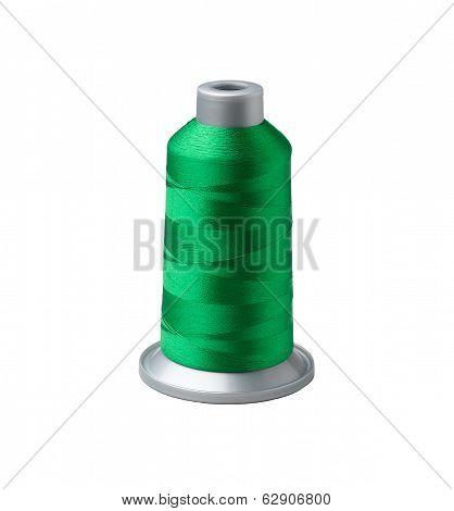 Bobbin of green thread