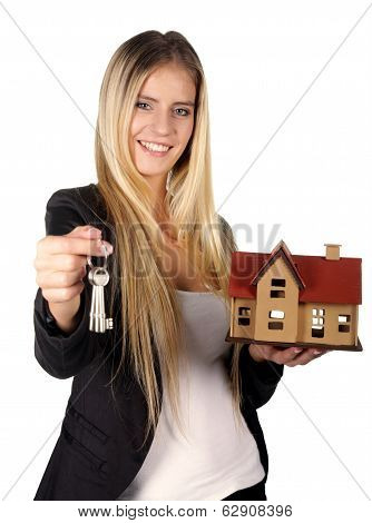 Estate Agent Woman Concept