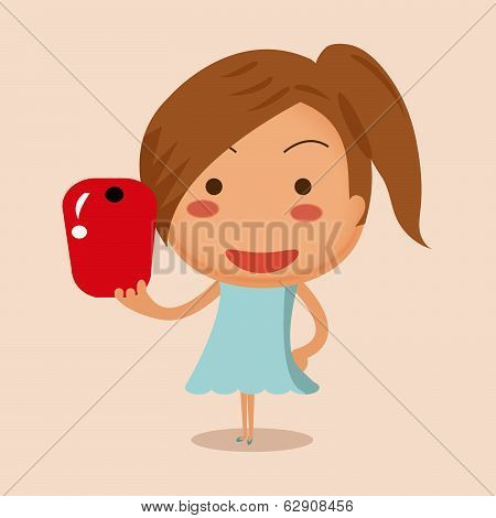 Cute Girl Traveling And Taken Pictures Of Her Self, Selfie.