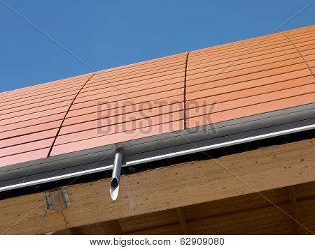 Ceramic Roof In A Modern Building. Detail.