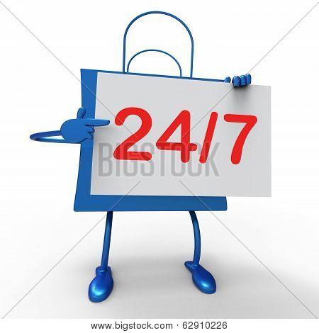 Twenty Four Seven Bag Shows Hours Open