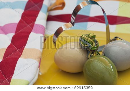 Easter Eggs With Shape Heart