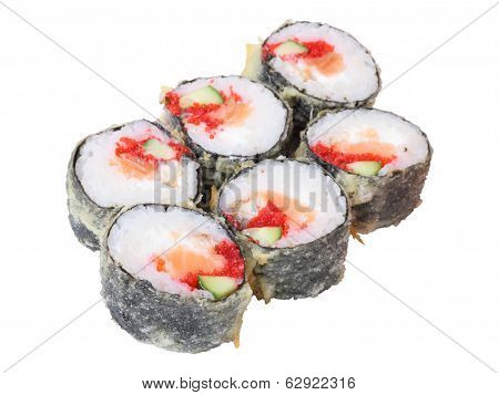 Hot Rolls With Salmon