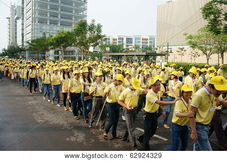 Crowded Activity, Walking For Community