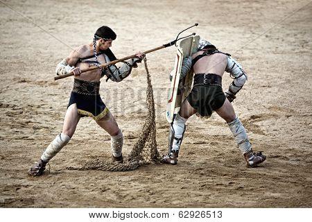 Retiarius Gladiator Attack