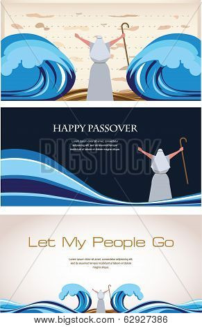 Three Banners of Passover Jewish Holiday