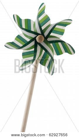 Plastic Fan Or Wind Turbine Toy Or Pinwheel Isolated