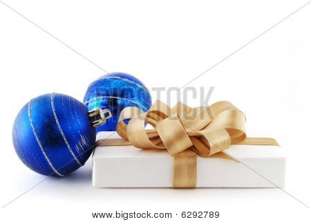 Blue Balls And Gift