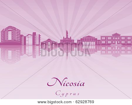Nicosia Skyline In Purple Radiant Orchid