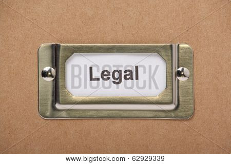 Legal Drawer Label