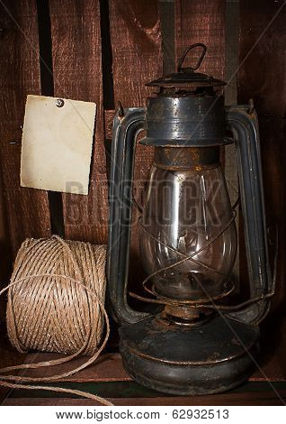 Old Kerosene Stove And A Roll Of Twine