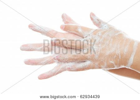 Wash Female Hands