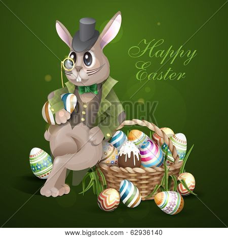The Easter Bunny With A Basket