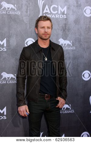 LAS VEGAS - APR 6:  Dierks Bentley at the 2014 Academy of Country Music Awards - Arrivals at MGM Grand Garden Arena on April 6, 2014 in Las Vegas, NV