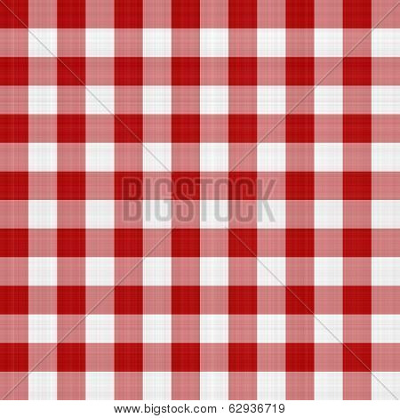 Red And White Picnic Tablecloth