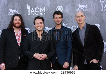 LAS VEGAS - APR 6:  Eli Young Band at the 2014 Academy of Country Music Awards - Arrivals at MGM Grand Garden Arena on April 6, 2014 in Las Vegas, NV