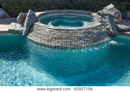 Hot Tub In Swimming Pool