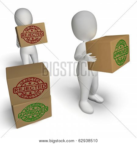 Approved Rejected  Boxes Mean Product Testing Quality Control