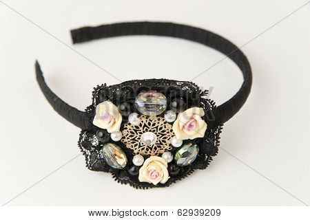 Fashionable Hair Clip On A White Background