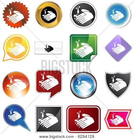 Handwashing Icon Set