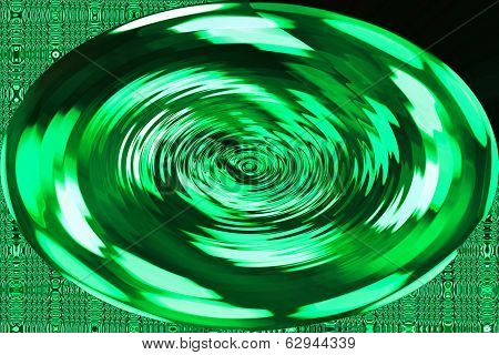 Green Ripple - Color Background and Abstract Art Patterns