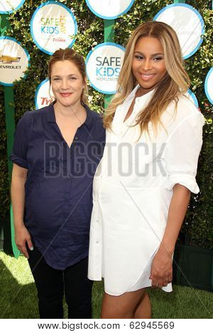 LOS ANGELES - APR 5:  Drew Barrymore, Ciara at the Safe Kids Day Los Angeles 2014 at The Lot on April 5, 2014 in Wesst Hollywood, CA