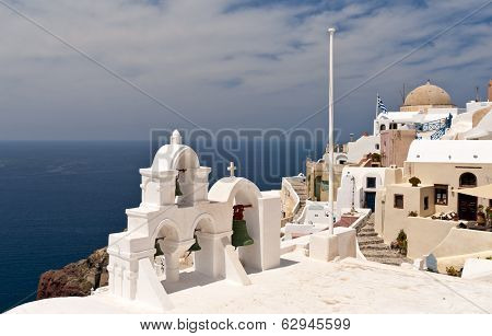 Santorini Sea View With Church