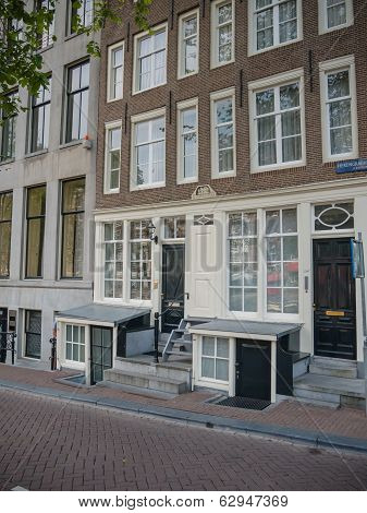 Typical Canal House On Herengracht In Amsterdam