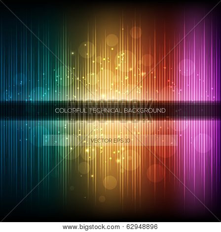 Abstract equalizer background. Colorful rainbow wave.