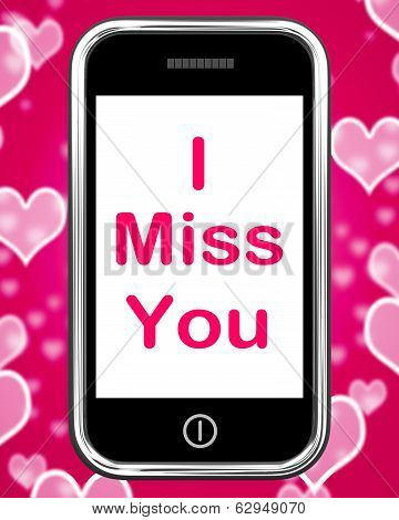 I Miss You On Phone Means Sad Longing Relationship