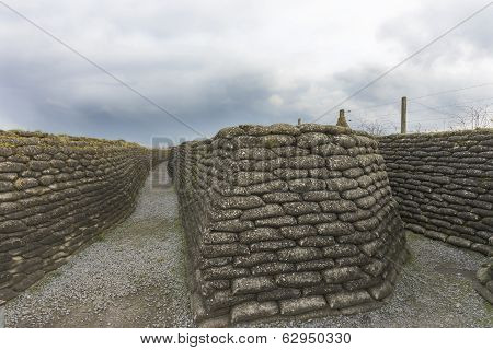 World War I Trenches In Flanders, Near Diksmuide.