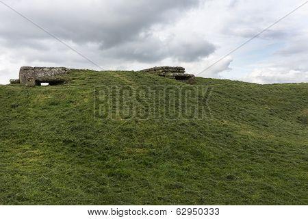 World War I Bunkers Near Diksmuide, Flanders, Belgium.