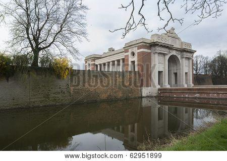 Menin Gate In Ypres, Ieper, Belgium.
