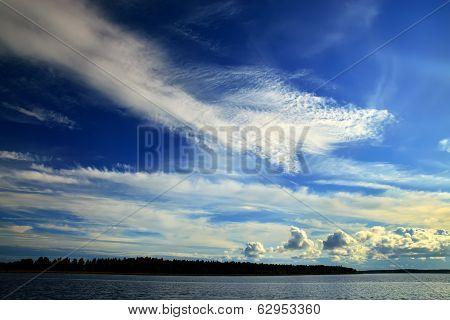 Romantic Sunset On The White Sea