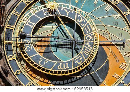 Astronomical clock on Town Hall. Prague, Czech Republic