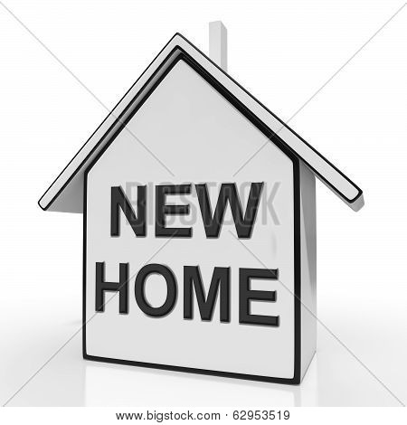 New Home House Means Buying Or Purchasing Property