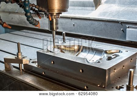 Industrial Metal Mold/die Milling. Metalworking.
