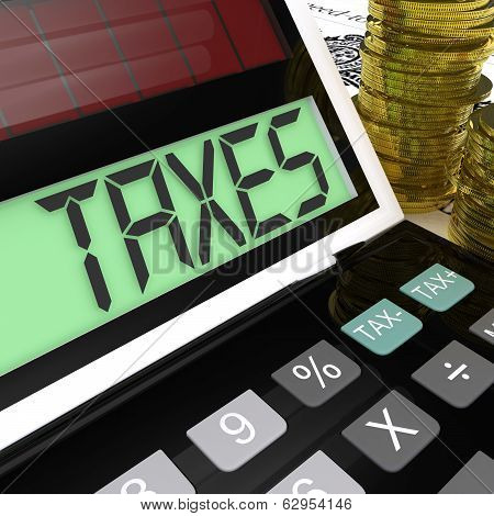 Taxes Calculator Shows Income And Business Taxation