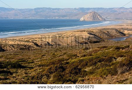 The Morro Rock From Montana De Oro State Park