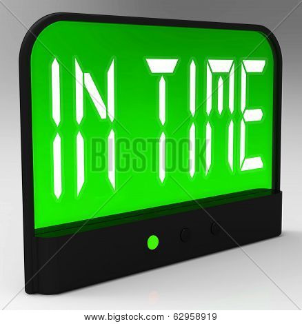 In Time Clock Means Punctual Or Not Late