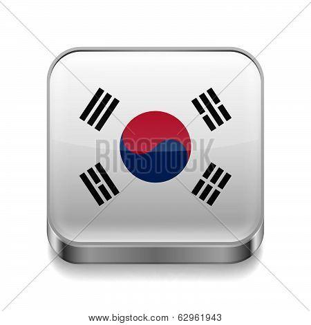 Metal  icon of South Korea