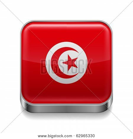 Metal  icon of Tunisia