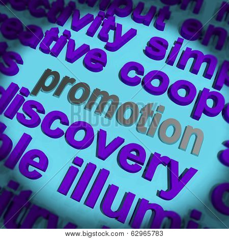 Promotion Word Means Advertising Campaign Or Special Deal